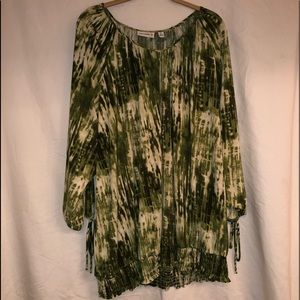 Green Peasant Blouse